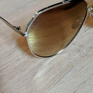 Diff Eyewear Accessories - Jessie James Decker Gold Diff aviator sunglasses